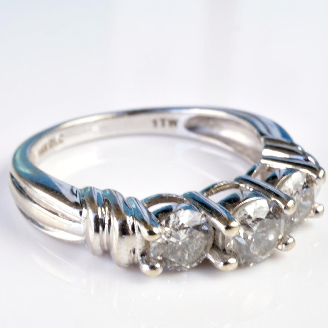 14k WG 1 CT Diamond Ring sz 6.75 - 2
