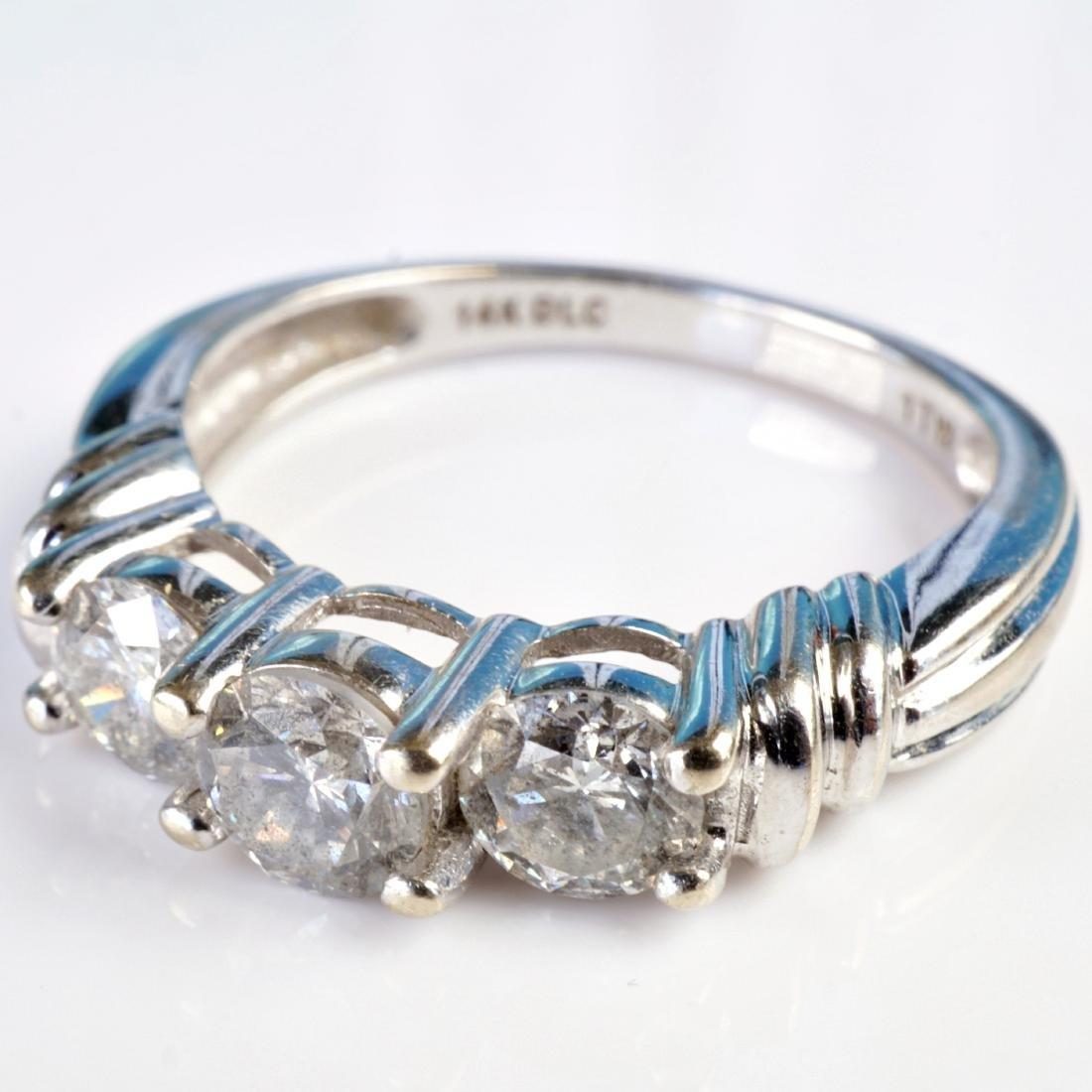 14k WG 1 CT Diamond Ring sz 6.75 - 3
