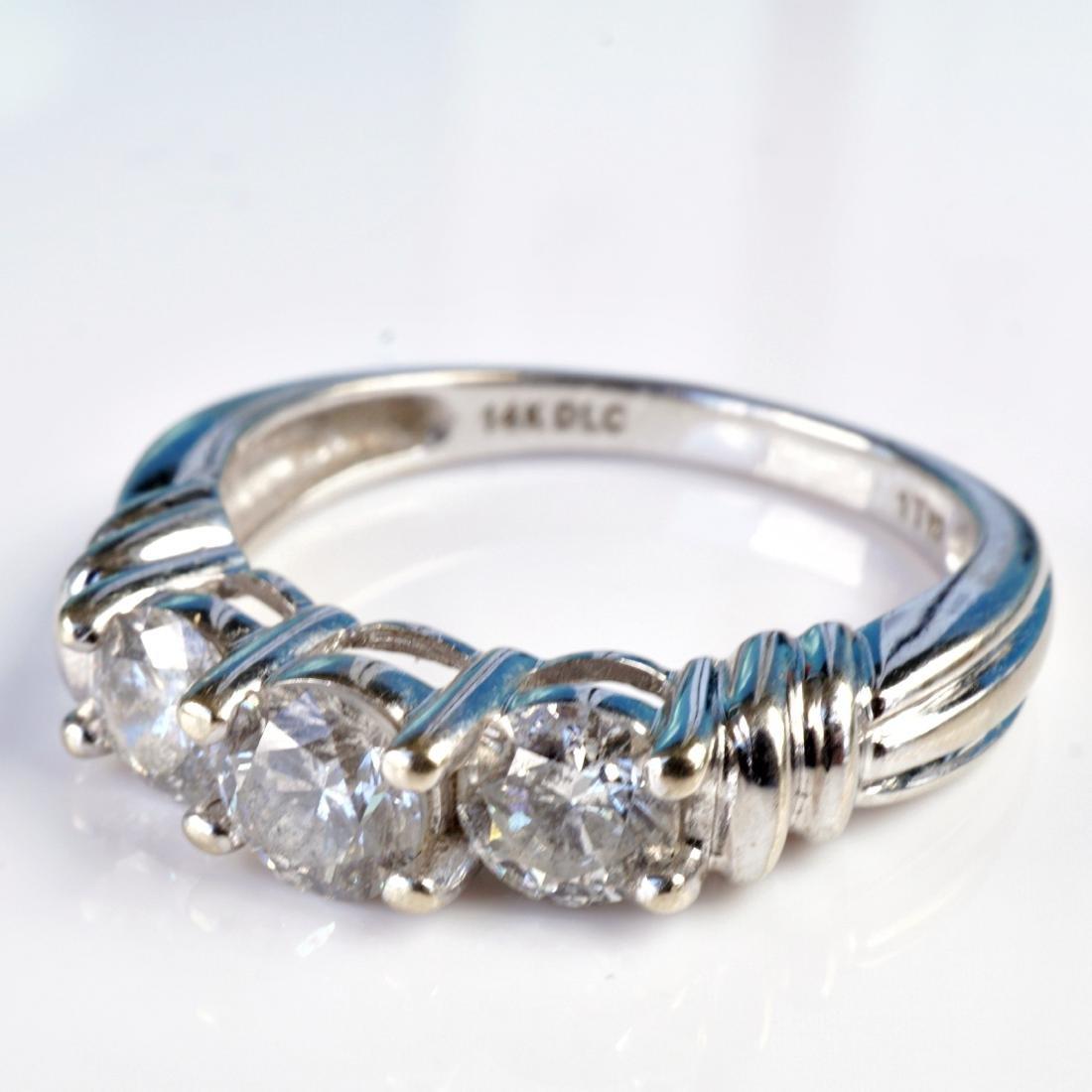 14k WG 1 CT Diamond Ring sz 6.75 - 4