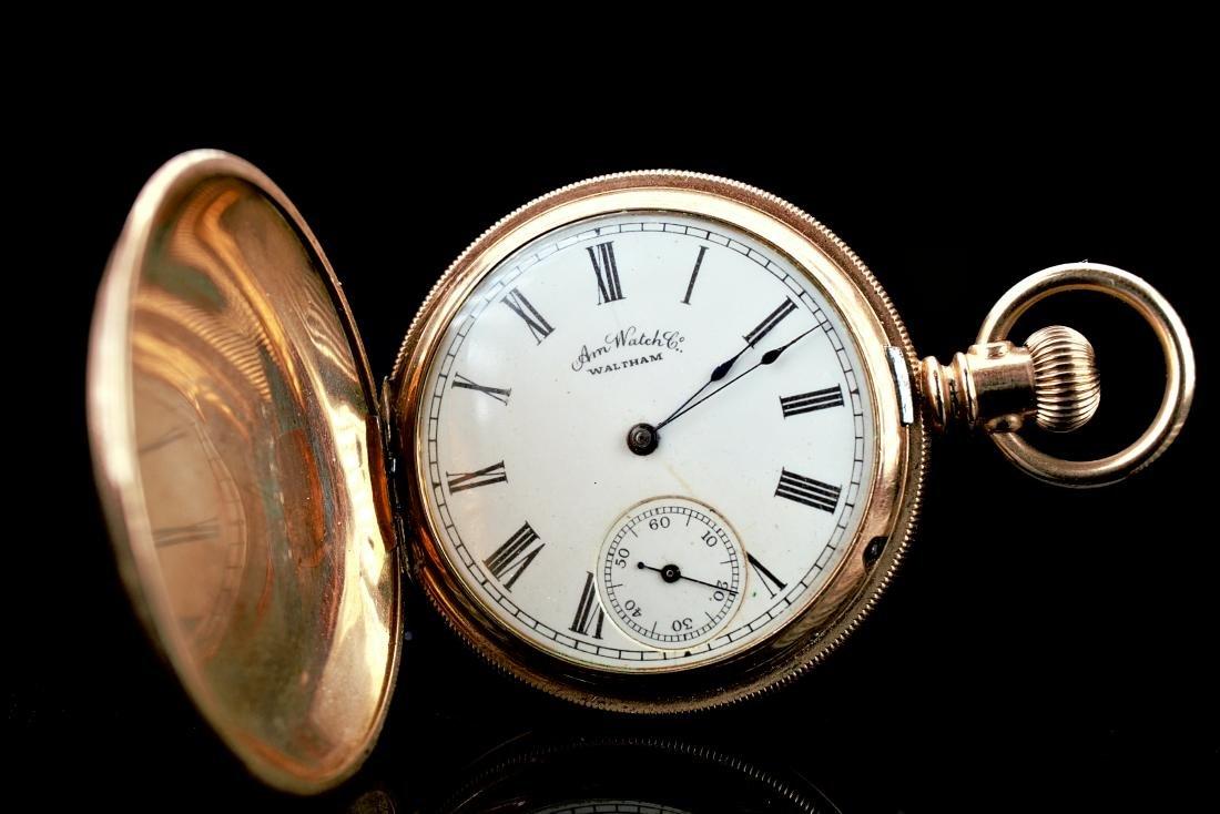 Waltham 14k YG Pocket Watch - 2