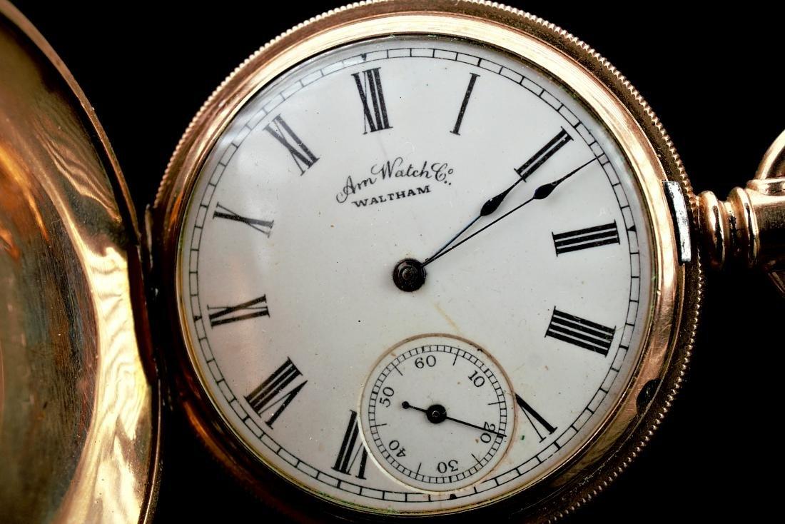 Waltham 14k YG Pocket Watch - 3