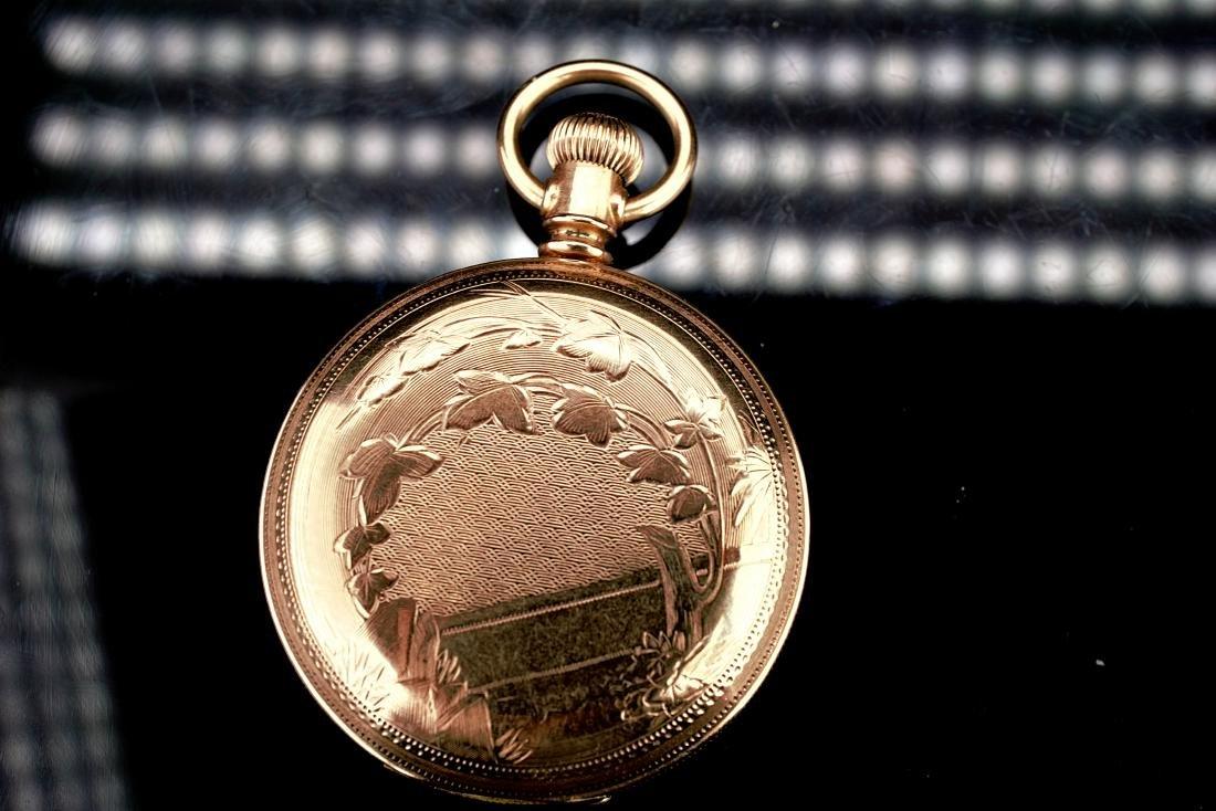 Waltham 14k YG Pocket Watch - 7