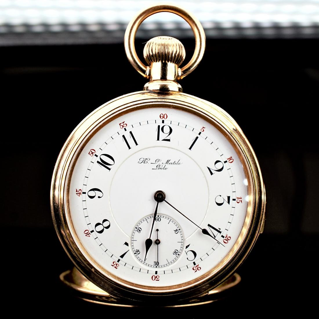 18k Yg Locle Minute Repeater Pocket Watch