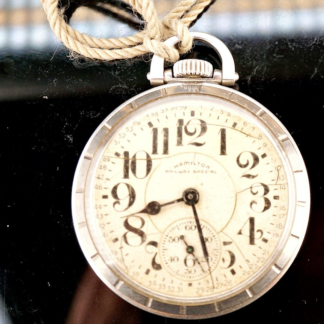 Hamilton Stainless Pocket Watch 18S