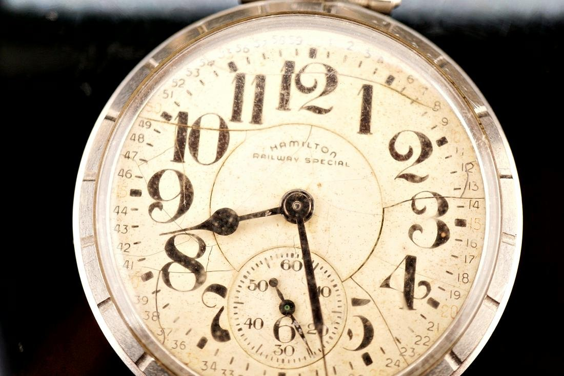 Hamilton Stainless Pocket Watch 18S - 2