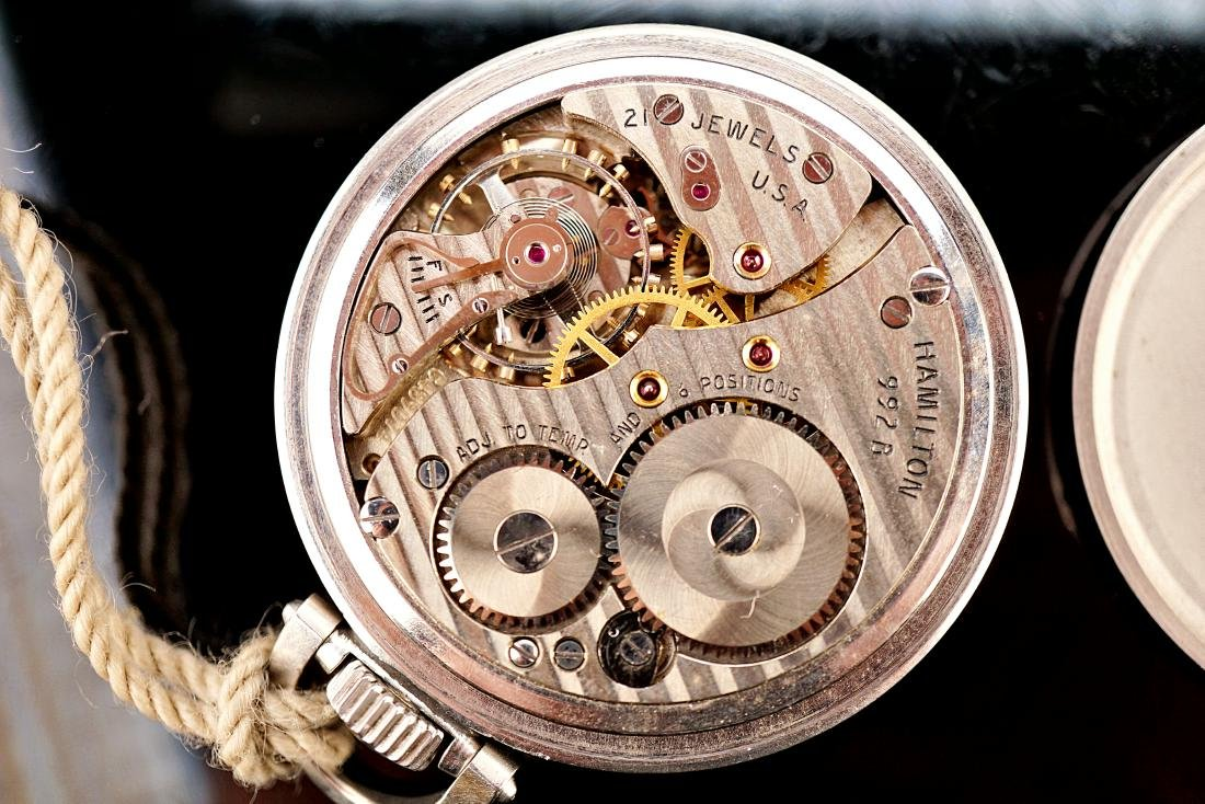 Hamilton Stainless Pocket Watch 18S - 3