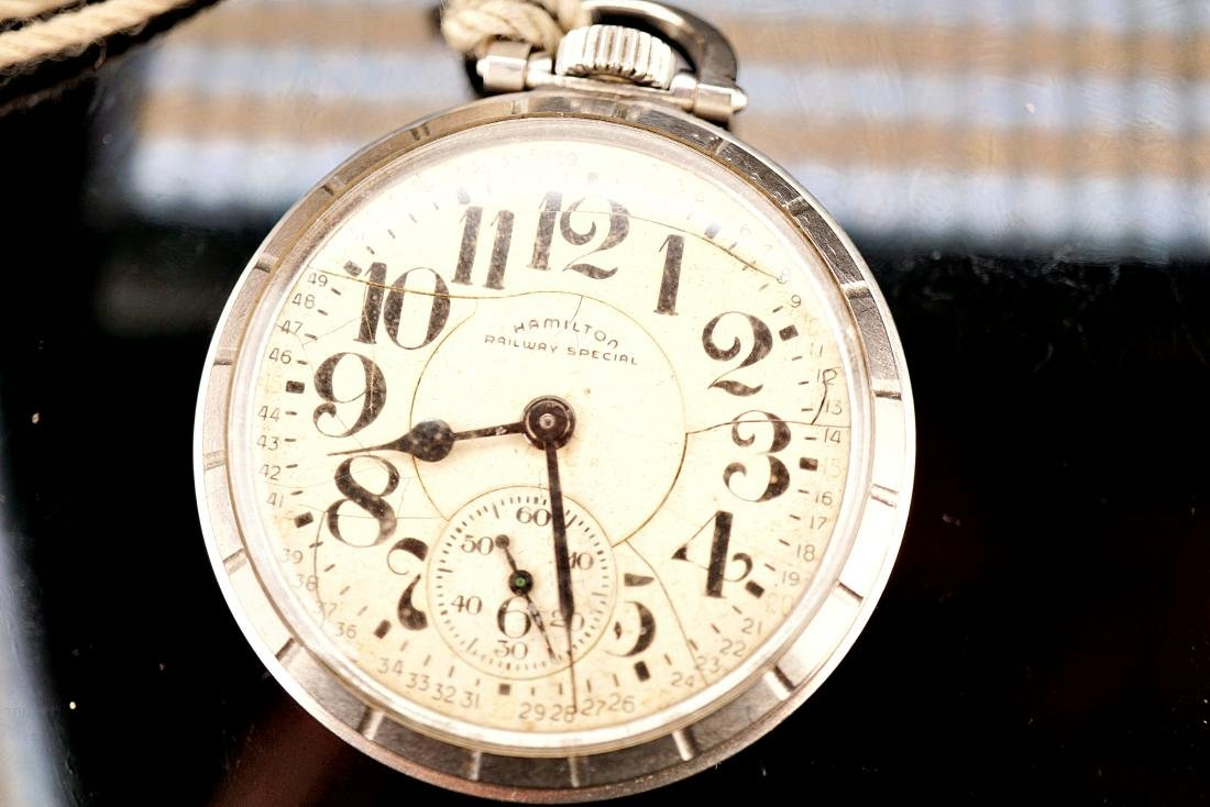 Hamilton Stainless Pocket Watch 18S - 8