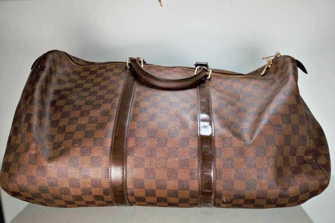 Louis Vuitton Keepall 50 Damier Ebene Canvas Duffle Bag 0d2adb868cc4d