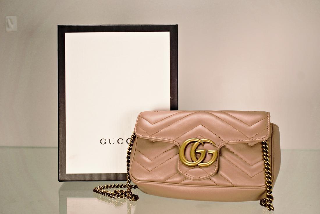 Gucci GG Marmont Matelassé Leather Super Mini Bag - 7