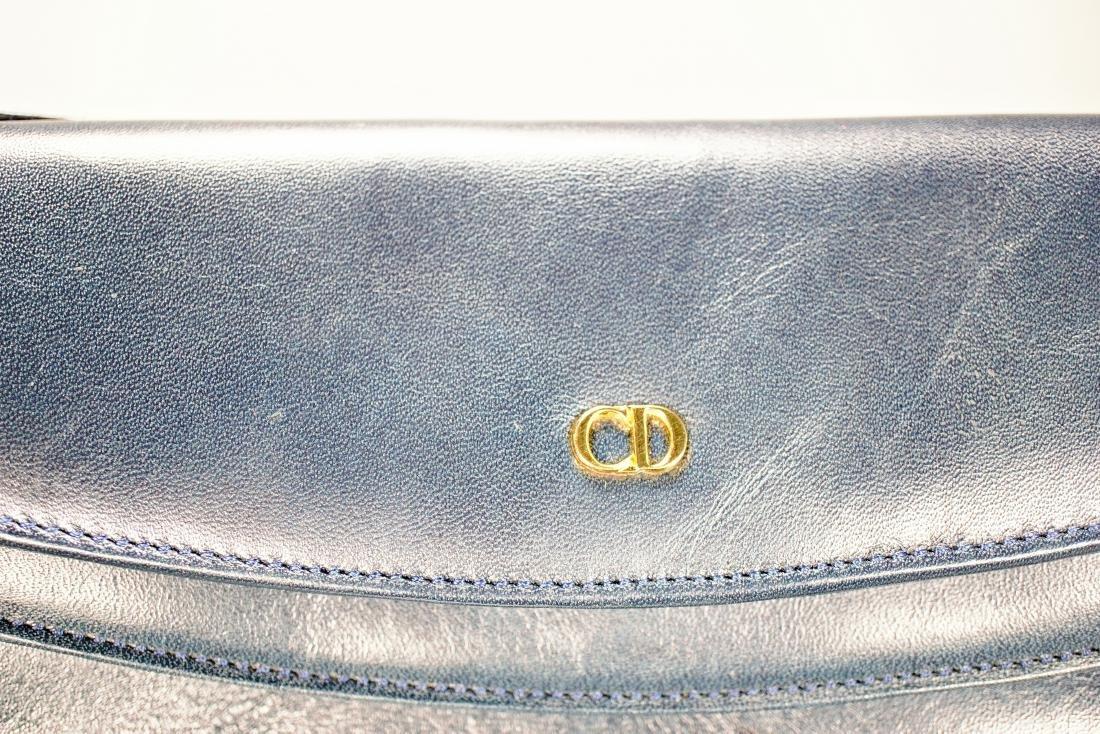 Christian Dior Navy Leather Bag - 2