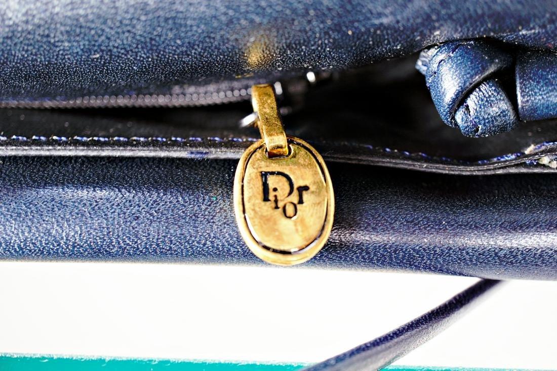 Christian Dior Navy Leather Bag - 6