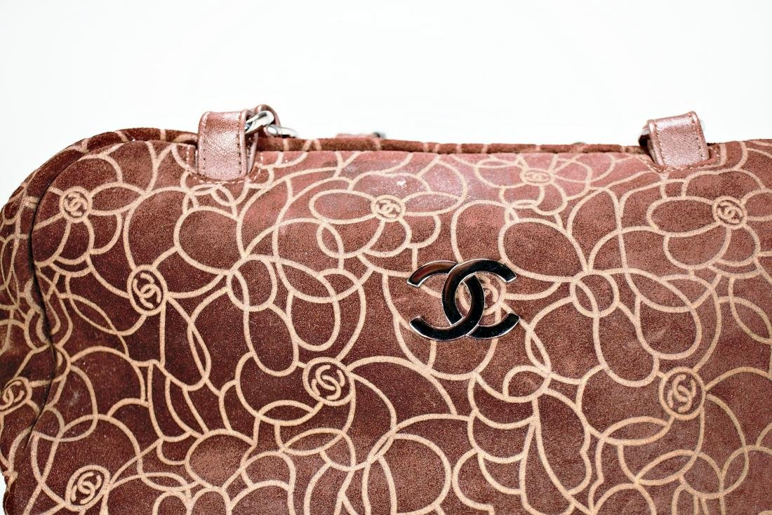 Chanel Camellia Flower Suede Bag - 2