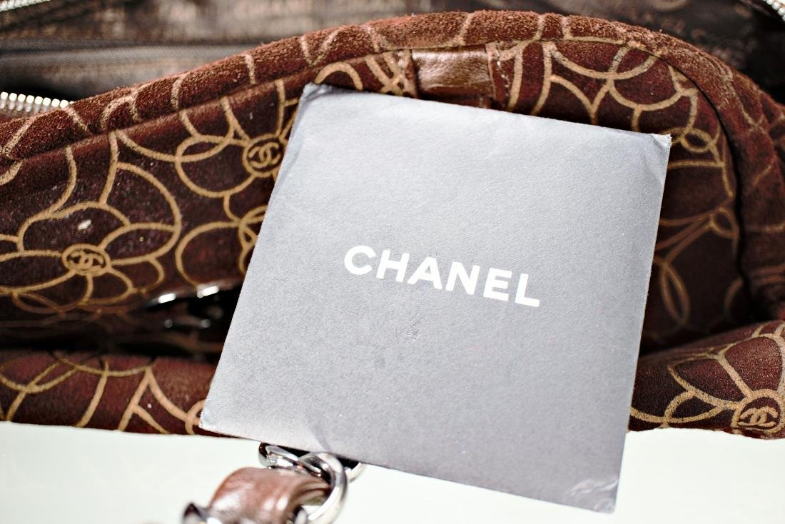 Chanel Camellia Flower Suede Bag - 7