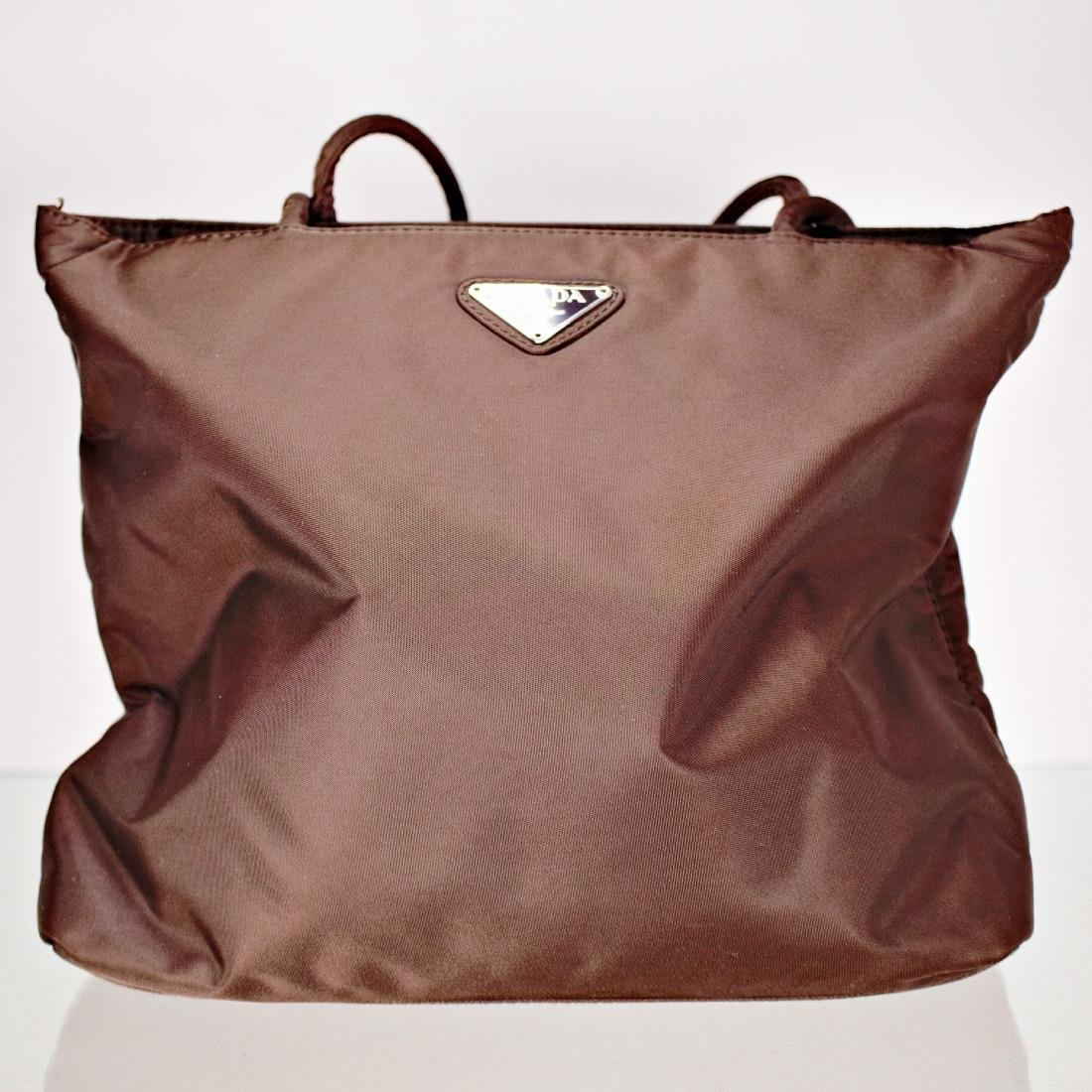 Chocolate Nylon Prada Bag