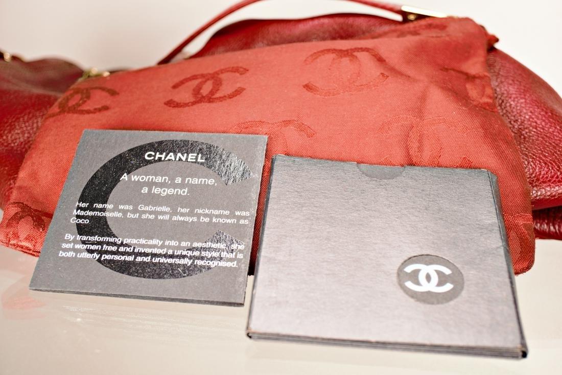 Ox Blood Chanel Leather Cinch Bag - 10