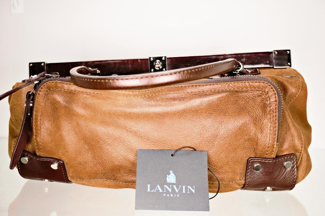 Lanvin Tan Lambskin Fermoir BagAlm - 5