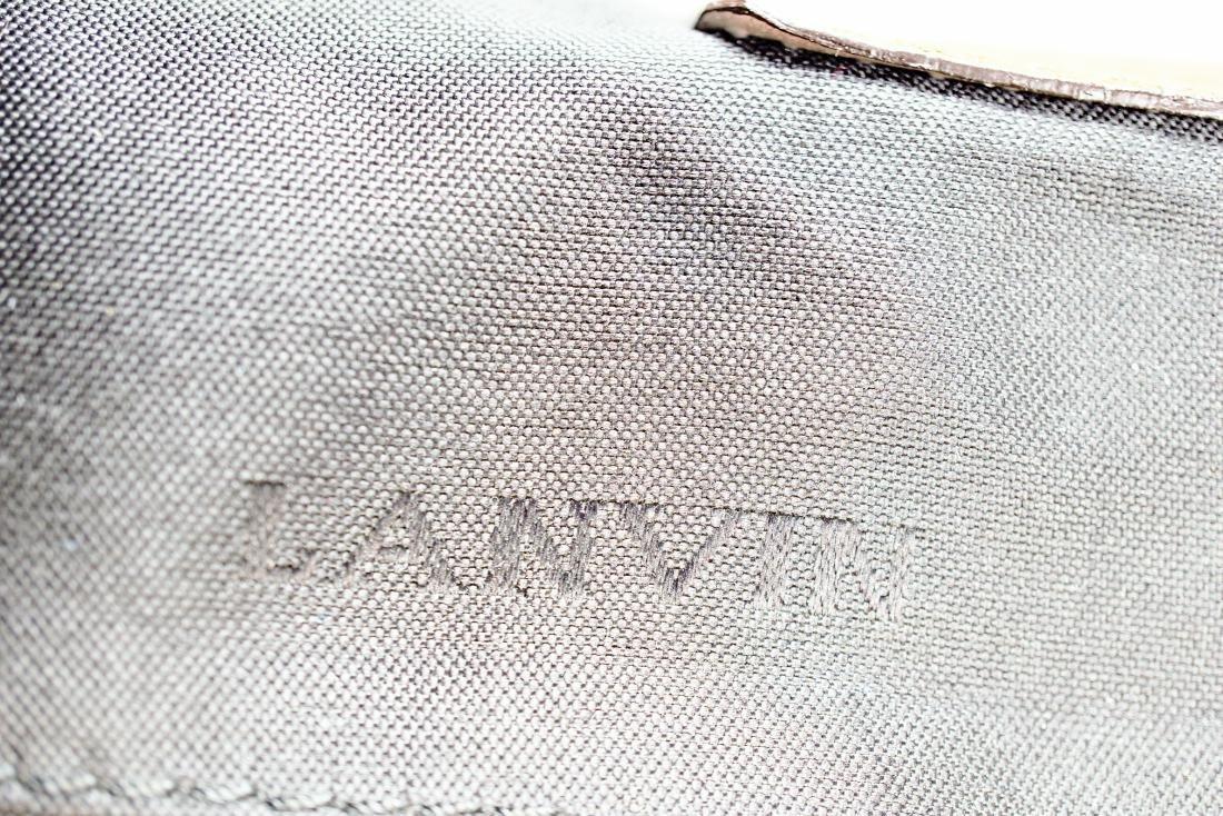Lanvin Tan Lambskin Fermoir BagAlm - 7