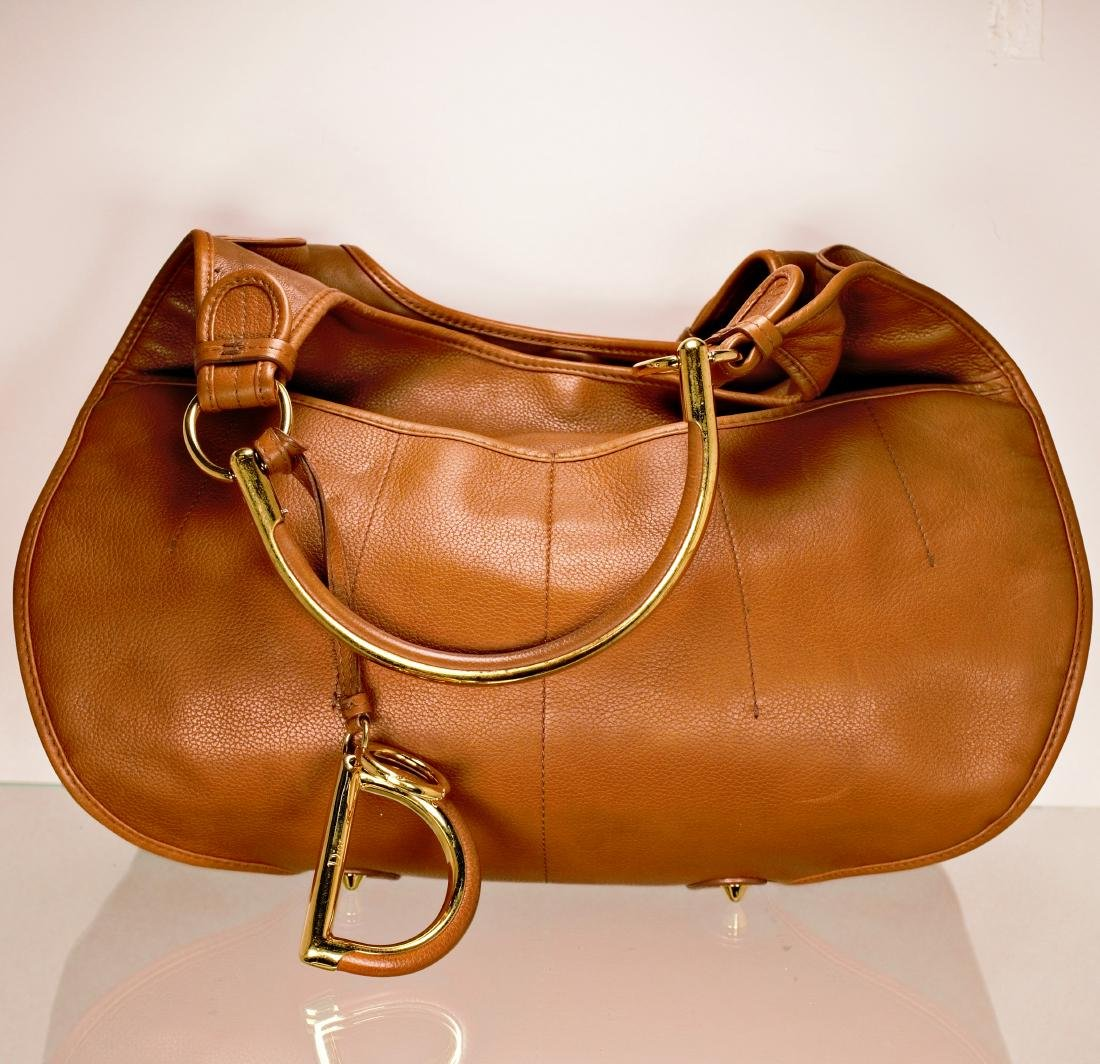 Dior Tan Leather Jumbo Bag