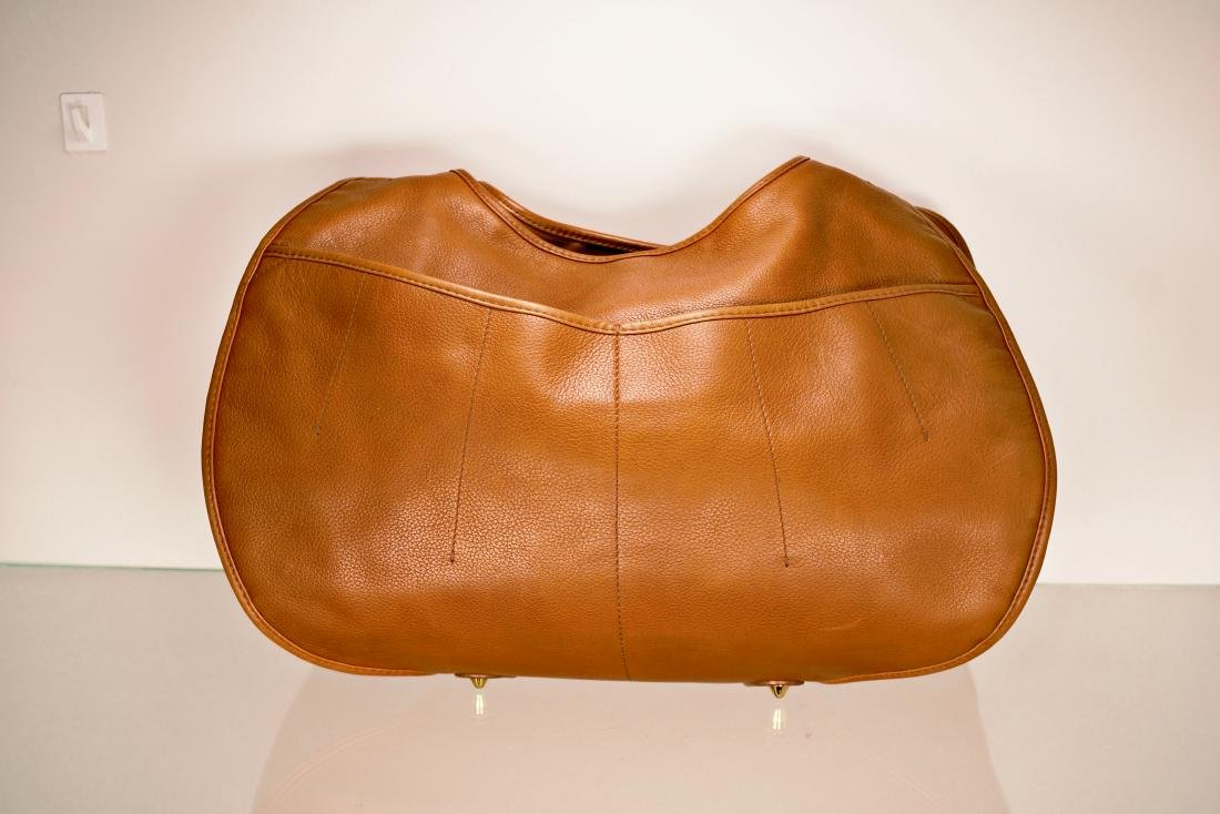 Dior Tan Leather Jumbo Bag - 2