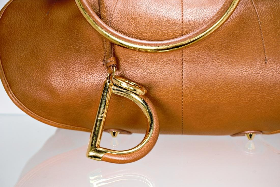 Dior Tan Leather Jumbo Bag - 3