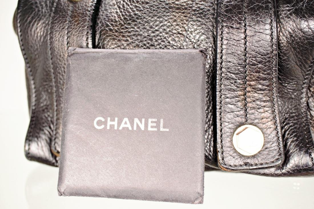 Black Lambskin Chanel Cube Bag - 5