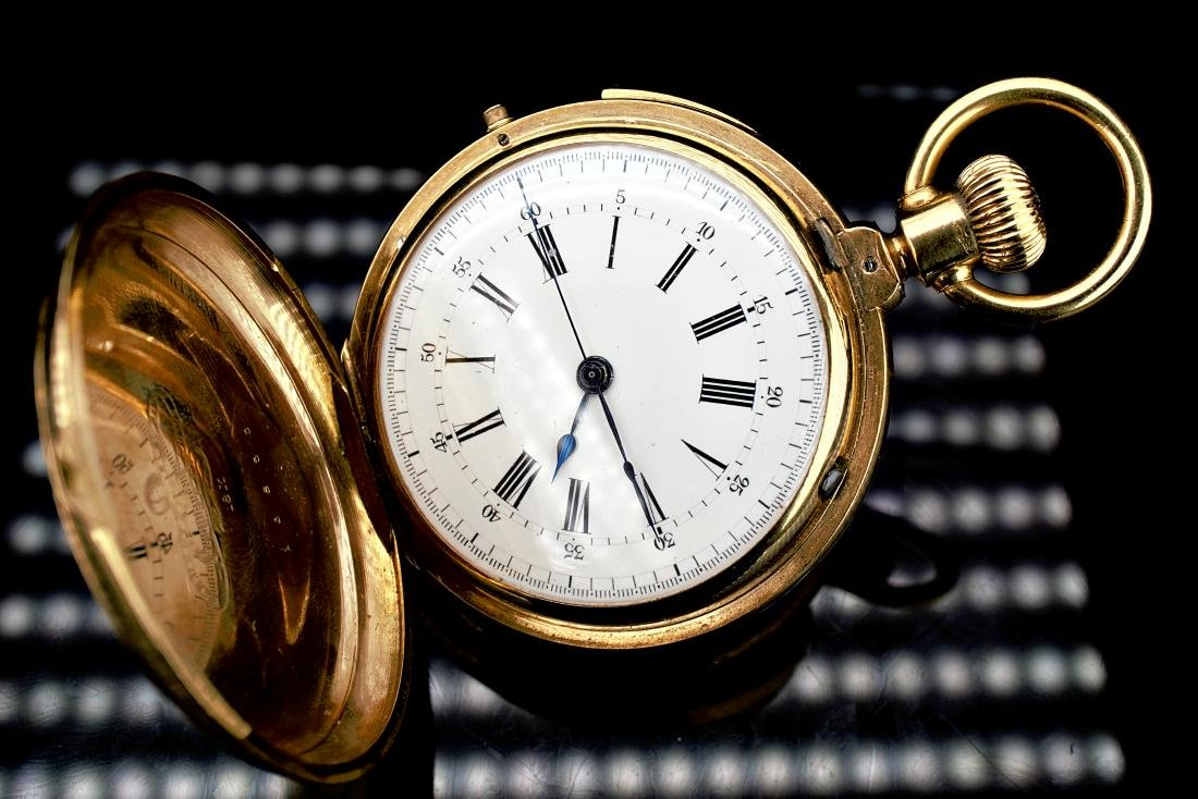 Locle 18k Yg Minute Repeater Pocket Watch