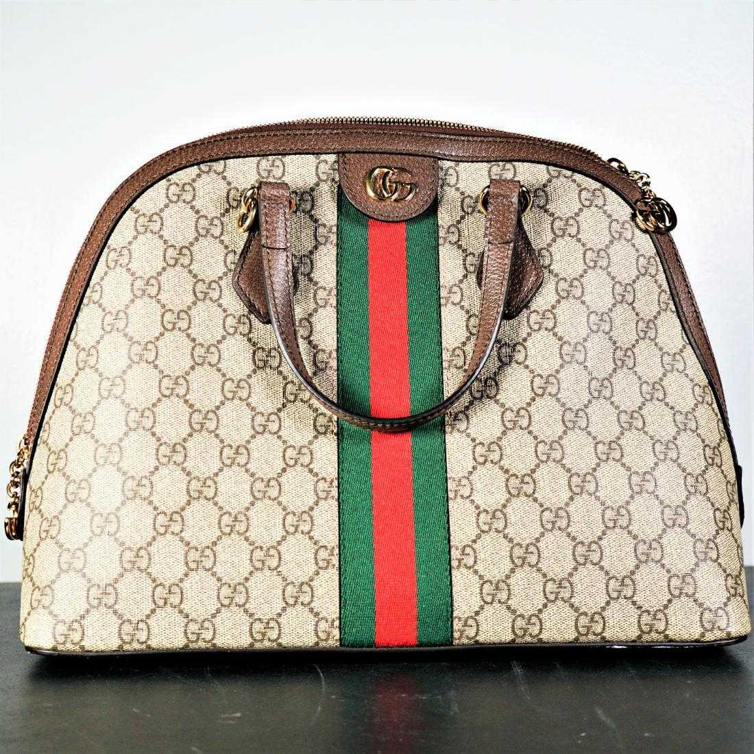 00b658ec8bf Ophidia Medium Web GG Supreme Top-Handle Bag