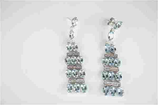 18k WG Aquamarine Earrings
