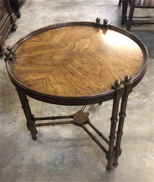 Vintage Faux Bamboo Side Table By Brandt Furniture