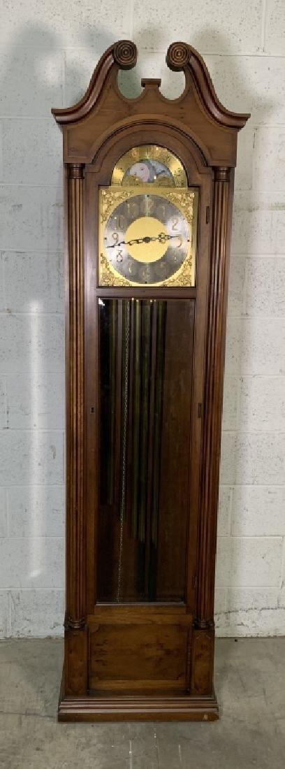 Colonial Mahogany 5 Tubular Grandfather Clock