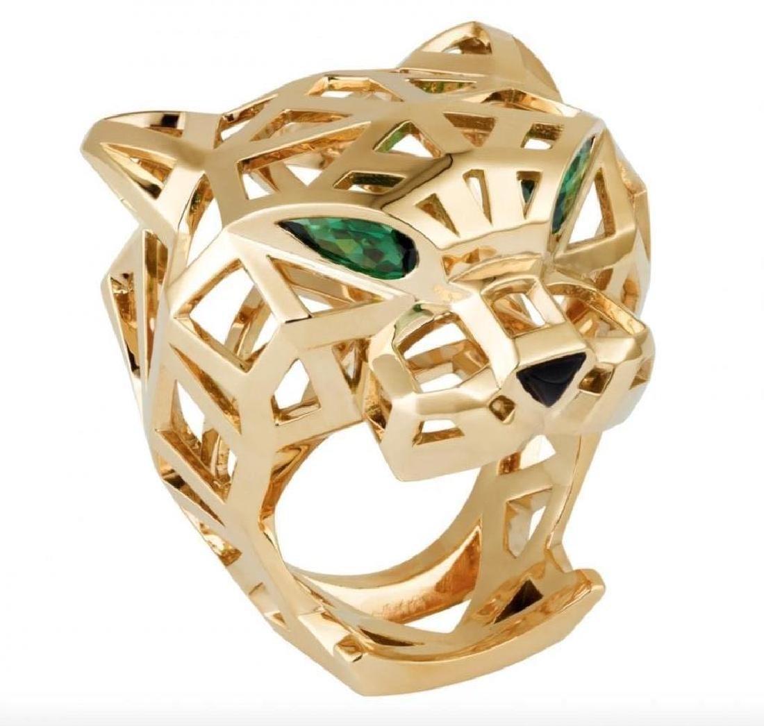 Men's Panther 'Panthere' 18k Gold Ring