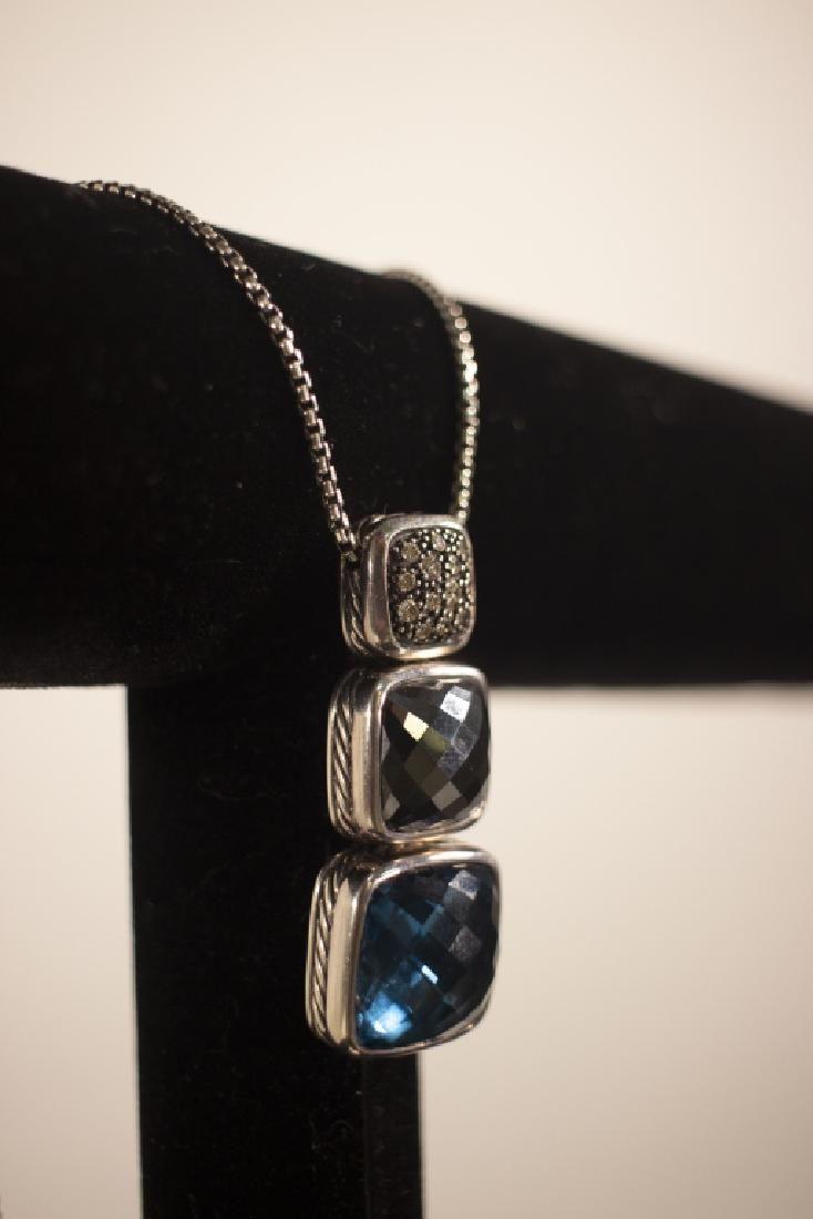 David Yurman Sterling, Gemstone, Diamond Necklace