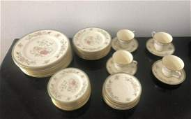 52 Pcs Minton Jasmine Porcelain Dinnerware
