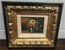 MCM Still Life Oil Painting, Signed Bouato