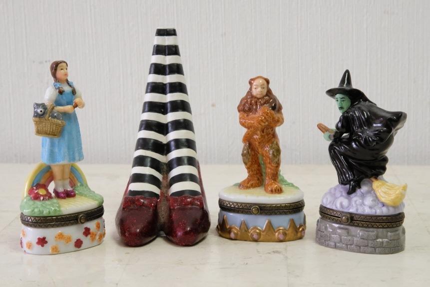 3 Wizard of Oz Trinket Boxes w/Witch Legs
