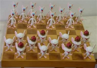 Rare Pinky & the Brain Checkers Set, David Kracov