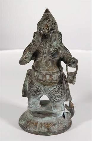 Bronze Figure of Standing Ganesh