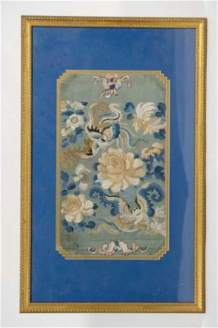 Fine Chinese Silk Embroidered Panel