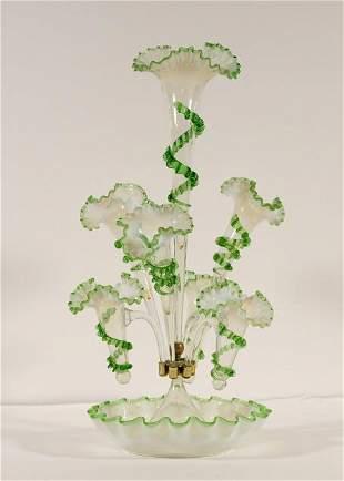 Fine Victorian Centerpiece Glass Epergne