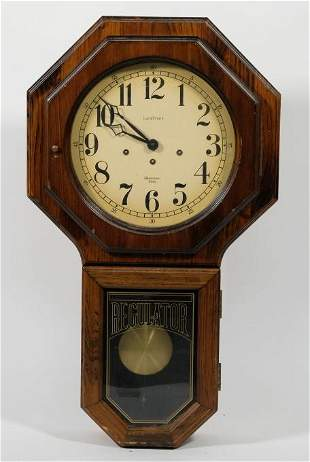 Westminster Chime Schoolhouse Regulator Clock
