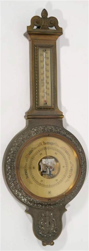 Vintage Westwood Germany Brass Wall Barometer