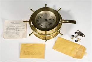 Vintage Seth Thomas Brass Ship