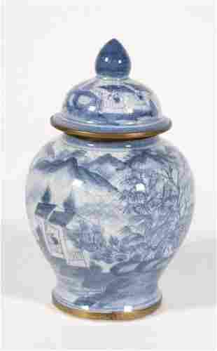 Chinese Blue White Porcelain Jar, Jiaqing Mark