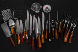 22 Pieces Kitchen Utensils wBakelite Handles