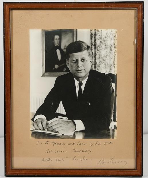 John F. Kennedy Autographed Photo