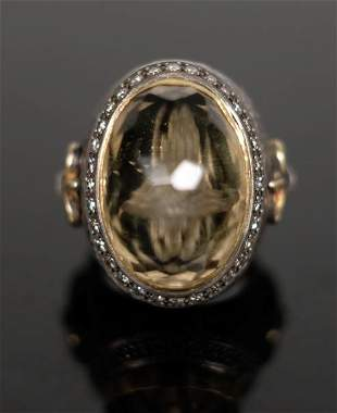Important Ecclesiastical Bishop's Ring w/Bone