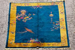 Large Art Deco Finely Hand Woven Chinese Rug