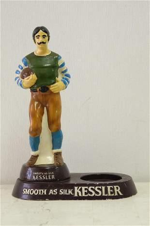 Vintage Kessler Whiskey Advertising Figure