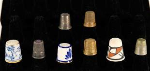 Group, Eight Antique and Vintage Thimbles