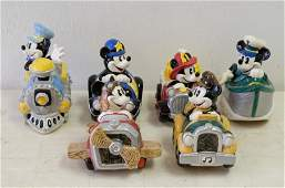 6 Disney Schmid Mickey Mouse Musical Figurines